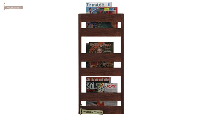 Alnus Magazine Rack (Walnut Finish)-1