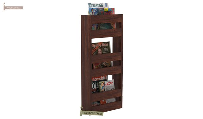 Alnus Magazine Rack (Walnut Finish)-2