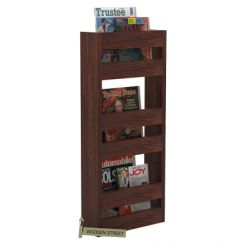 Alnus Magazine Rack (Walnut Finish)
