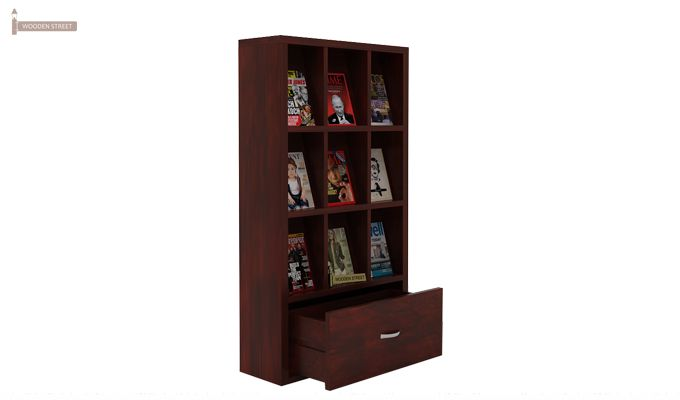 Baker Magazine Rack (Mahogany Finish)-1