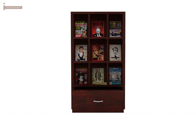 Baker Magazine Rack (Mahogany Finish)-2