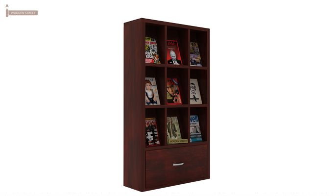 Baker Magazine Rack (Mahogany Finish)-3