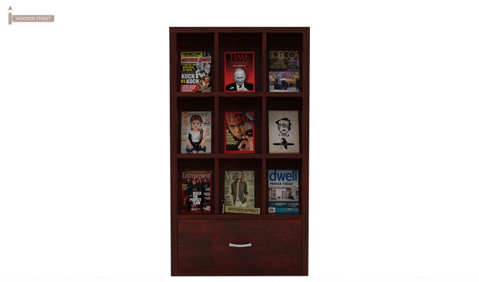 Baker Magazine Rack (Mahogany Finish)-4