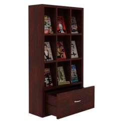 Baker Magazine Rack (Mahogany Finish)