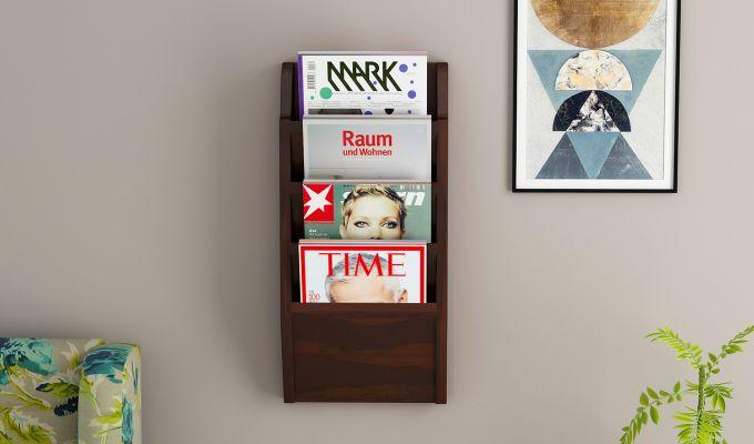 Benson Magazine Rack (Walnut Finish)-1