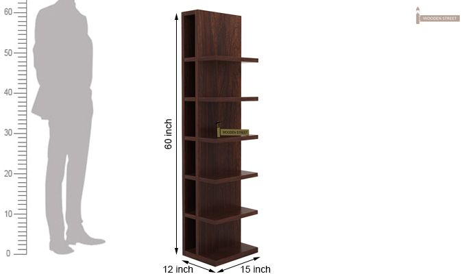 Brin Magazine Rack (Walnut Finish)-5