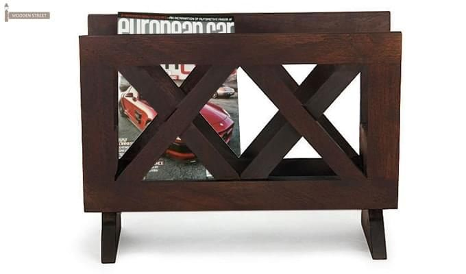 Clinton Magazine Rack (Mahogany Finish)-1
