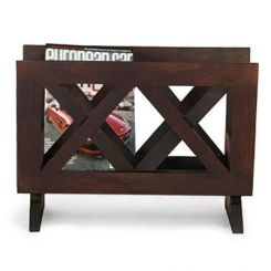 Clinton Magazine Rack (Mahogany Finish)