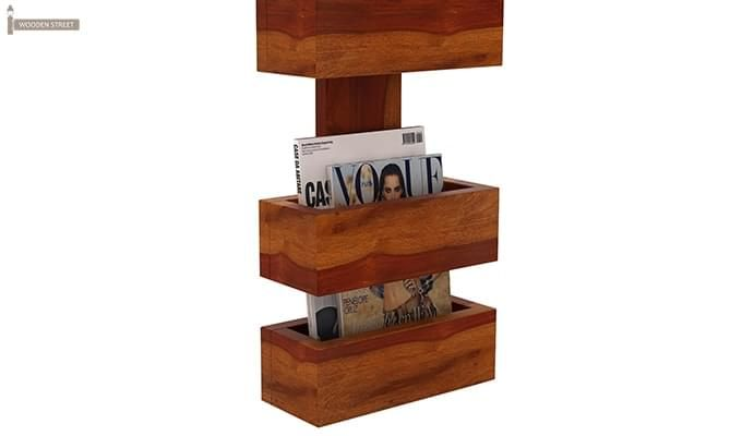 Clooney Magazine Holder (Honey Finish)-4