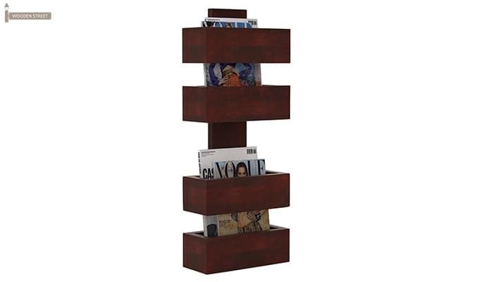 Clooney Magazine Holder (Mahogany Finish)-1