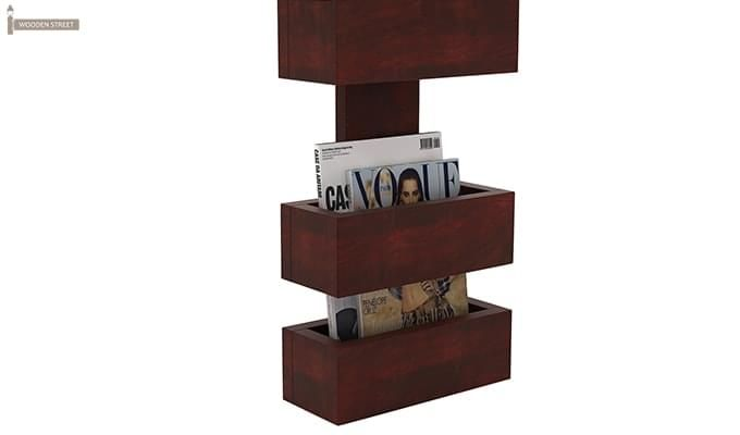 Clooney Magazine Holder (Mahogany Finish)-4