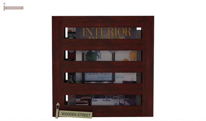 Davi Magazine Rack (Mahogany Finish)-2