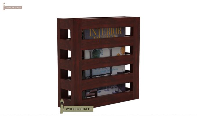 Davi Magazine Rack (Mahogany Finish)-1