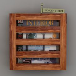 Davi Magazine Rack (Teak Finish)