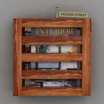 Buy Wooden Magazine Racks Online in Mumbai
