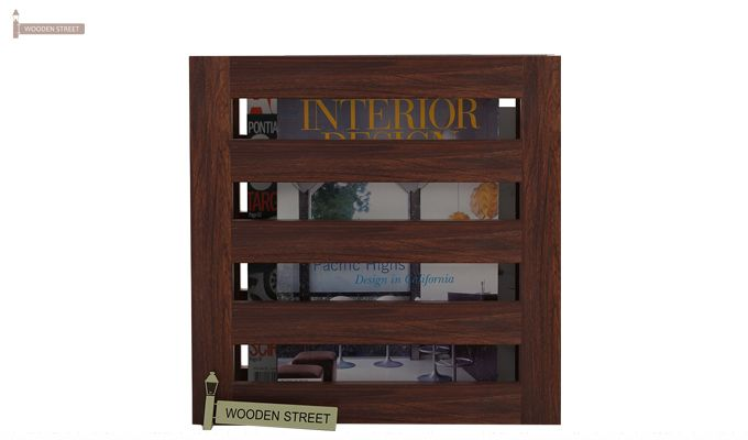 Davi Magazine Rack (Walnut Finish)-2
