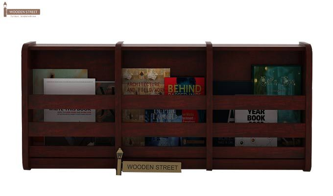 Domet Magazine Rack (Mahogany Finish)-1