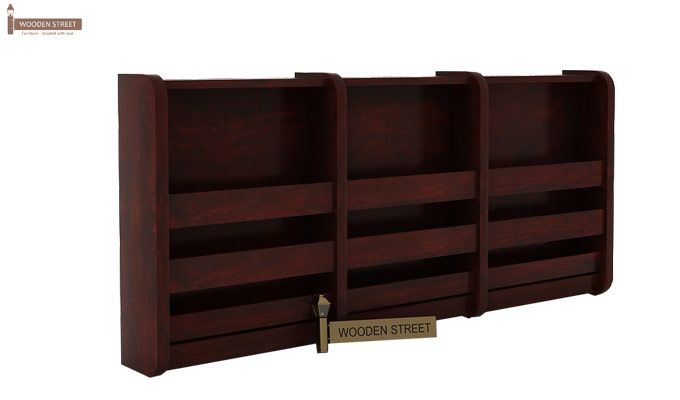 Domet Magazine Rack (Mahogany Finish)-3