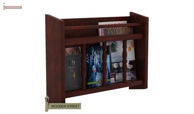 Espen Magazine Rack (Mahogany Finish)-1
