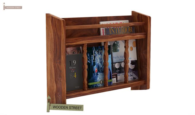 Espen Magazine Rack (Teak Finish)-2