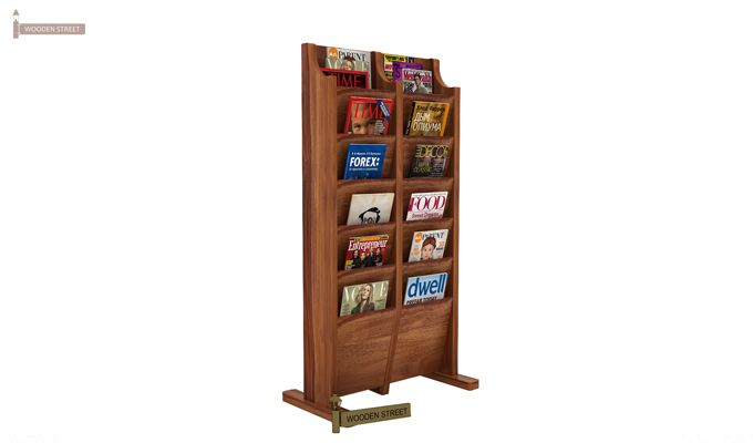Glace Magazine Rack (Teak Finish)-1