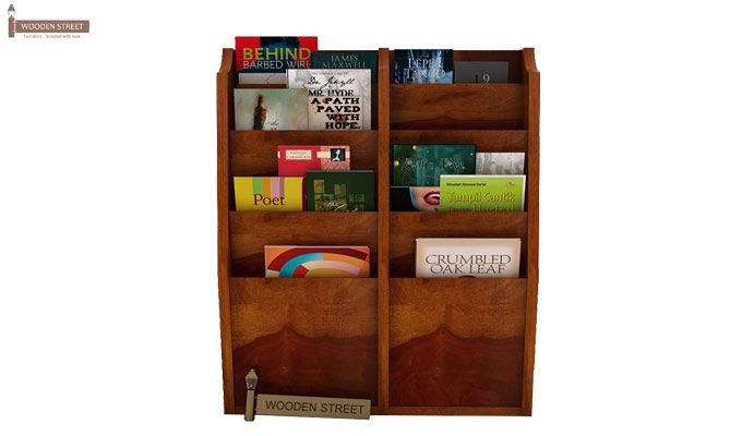 Incana Magazine Rack (Honey Finish)-2