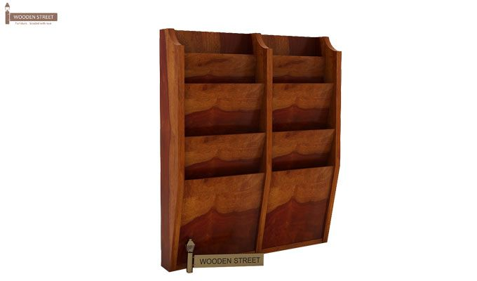 Incana Magazine Rack (Honey Finish)-4