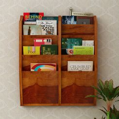Incana Magazine Rack (Honey Finish)