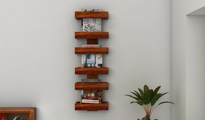 Prunus Magazine Rack (Honey Finish)-1