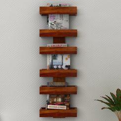 Prunus Magazine Rack (Honey Finish)