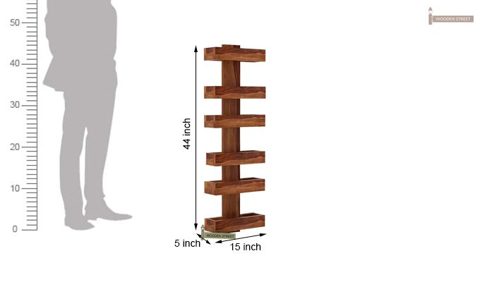 Prunus Magazine Rack (Teak Finish)-5