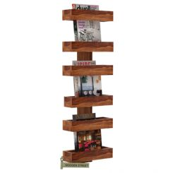 Prunus Magazine Rack (Teak Finish)