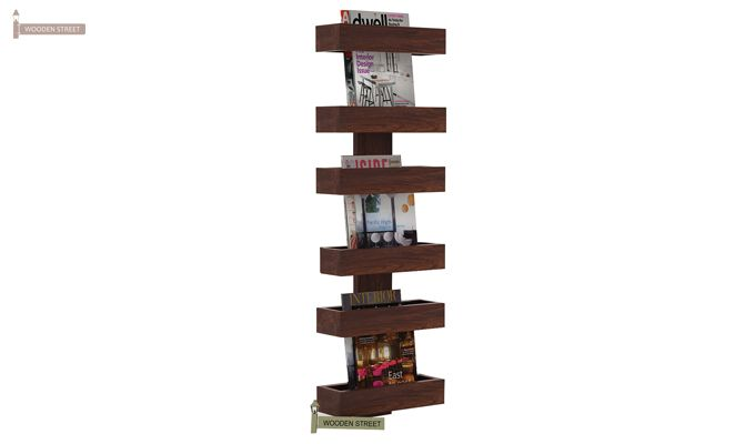 Prunus Magazine Rack (Walnut Finish)-1