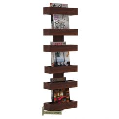 Prunus Magazine Rack (Walnut Finish)