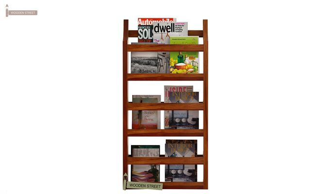 Sonja Magazine Rack (Honey Finish)-3