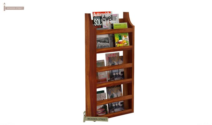 Sonja Magazine Rack (Honey Finish)-2