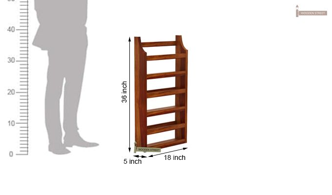 Sonja Magazine Rack (Honey Finish)-6