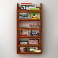 Sonja Magazine Rack (Honey Finish)