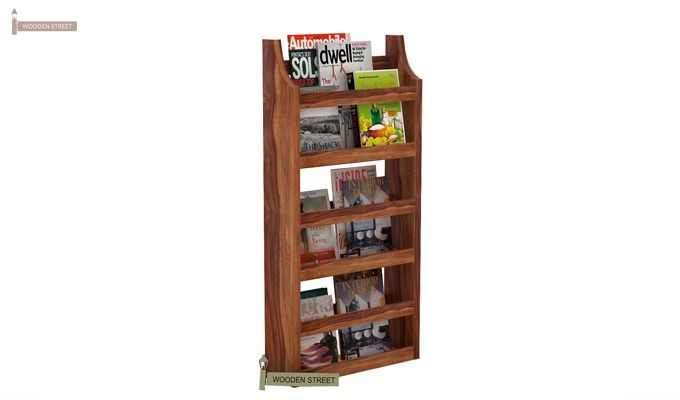 Sonja Magazine Rack (Teak Finish)-1