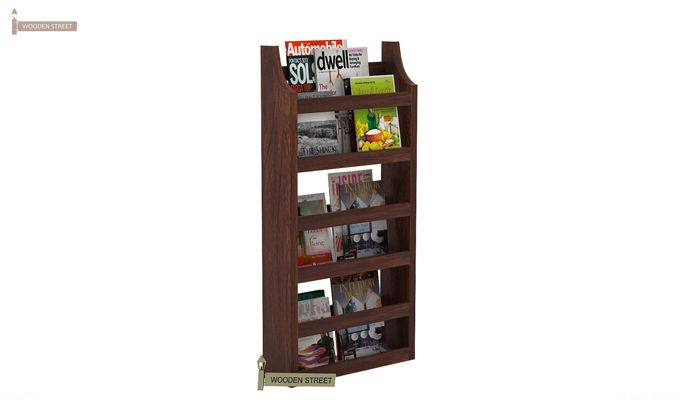 Sonja Magazine Rack (Walnut Finish)-1
