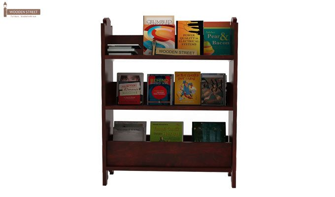 Trif Magazine Rack (Mahogany Finish)-2