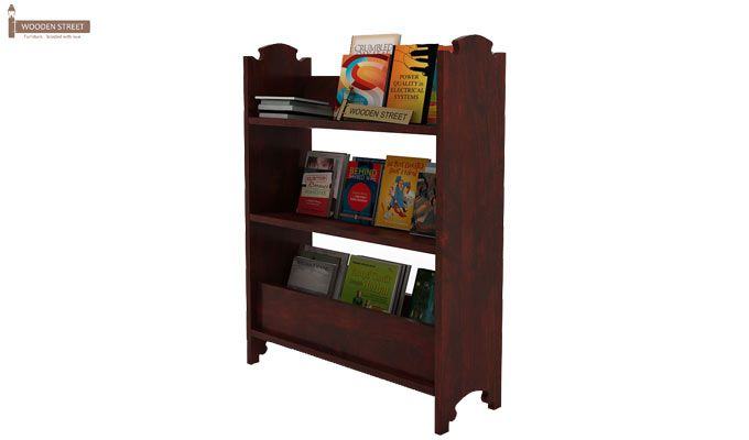 Trif Magazine Rack (Mahogany Finish)-3