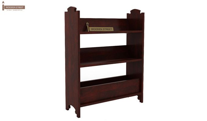 Trif Magazine Rack (Mahogany Finish)-4
