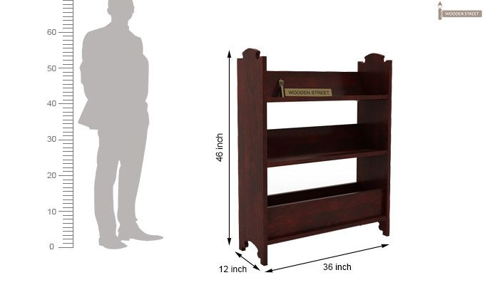 Trif Magazine Rack (Mahogany Finish)-5