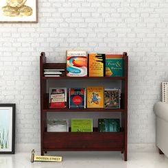 Trif Magazine Rack (Mahogany Finish)