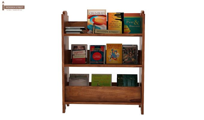 Trif Magazine Rack (Teak Finish)-1