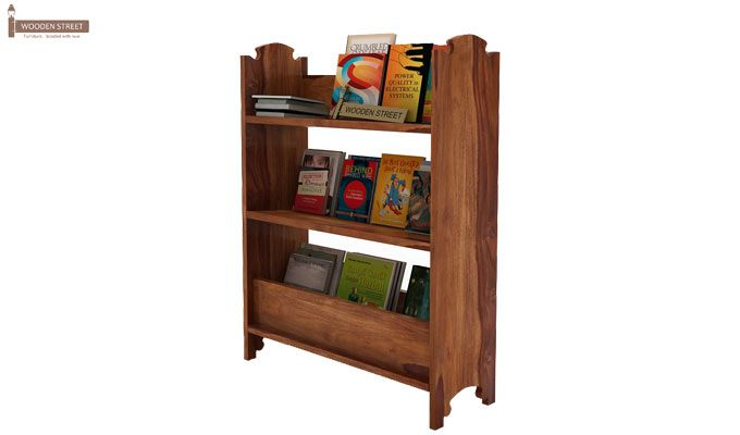 Trif Magazine Rack (Teak Finish)-2