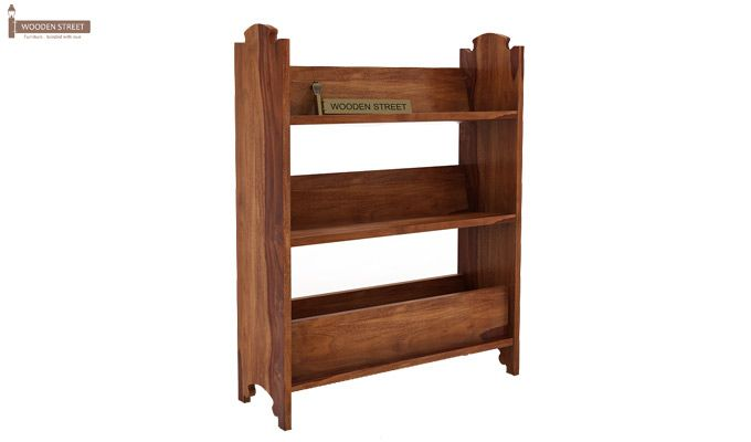 Trif Magazine Rack (Teak Finish)-3