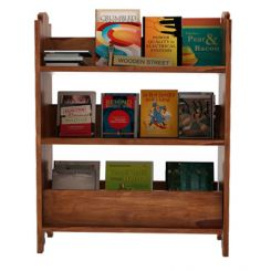 Trif Magazine Rack (Teak Finish)