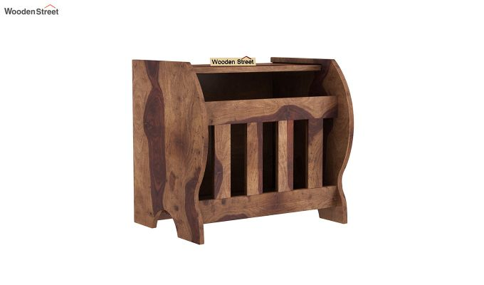 Xavier Magazine Rack (Teak Finish)-2